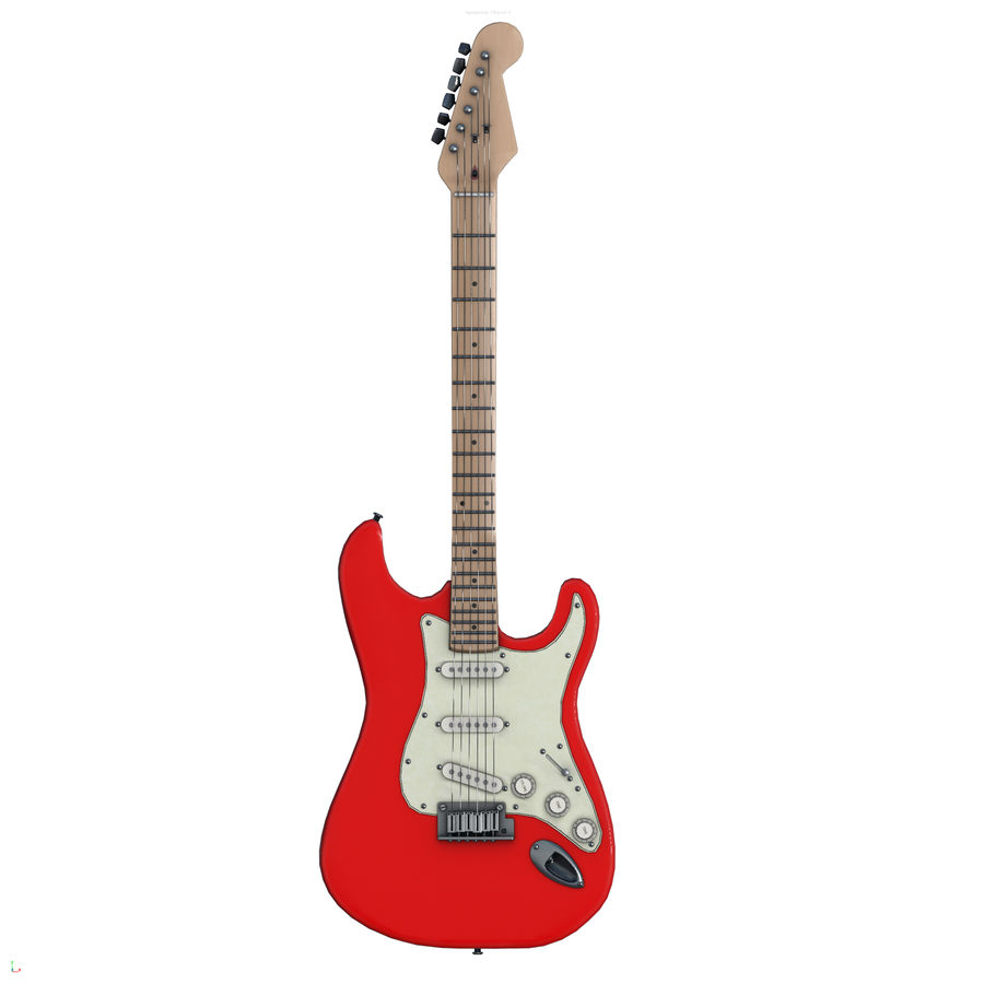 Guitarra fender stratocaster pbr royalty-free 3d model - Preview no. 1