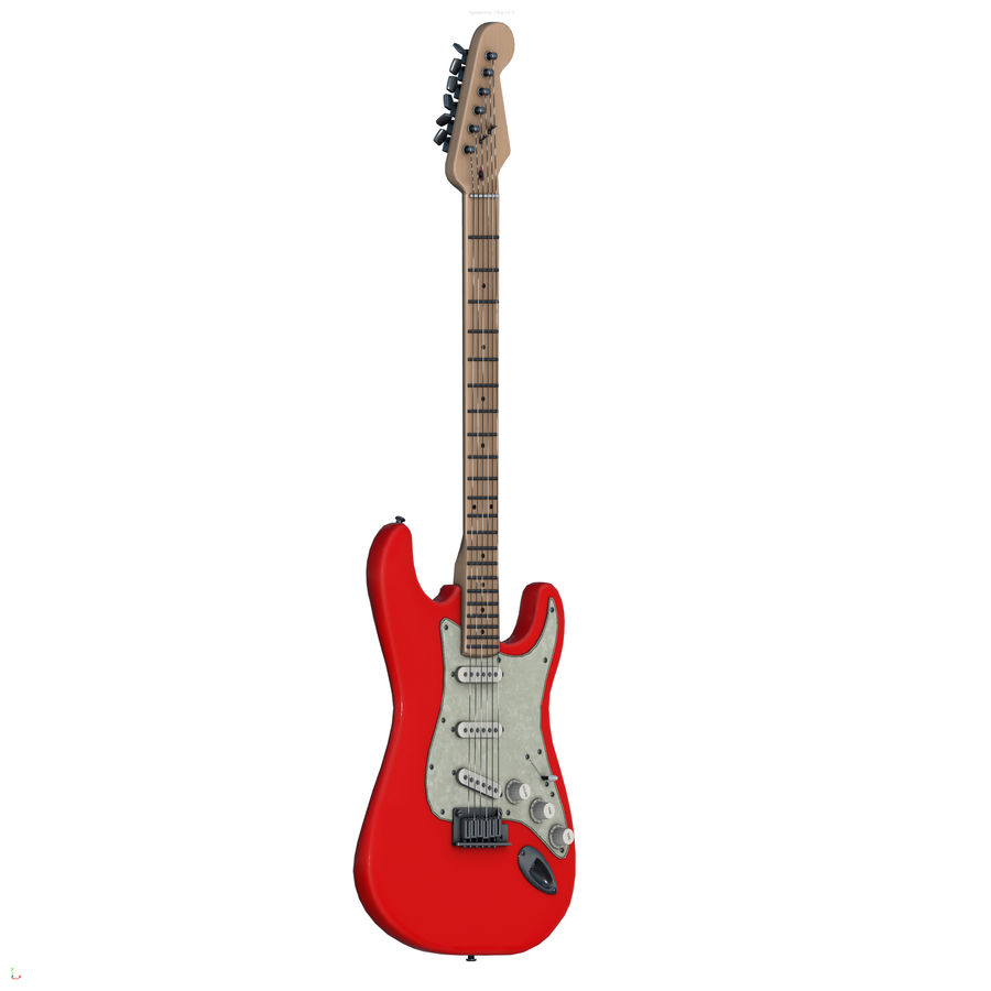 Guitarra fender stratocaster pbr royalty-free 3d model - Preview no. 2