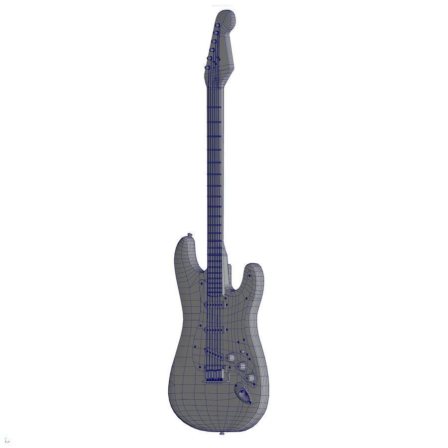 Guitarra fender stratocaster pbr royalty-free 3d model - Preview no. 16