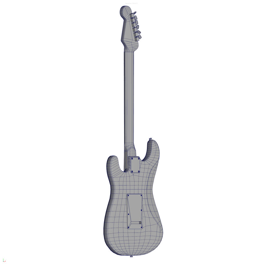 Guitarra fender stratocaster pbr royalty-free 3d model - Preview no. 14