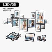 L3DV05G01 - ramki na zdjęcia i plakaty z 3 poziomami wielokątnymi 3d model