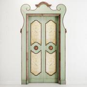 Old classic door 001 3d model