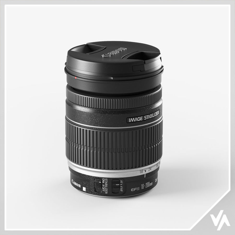 Canon Lens - Objetivo Canon royalty-free 3d model - Preview no. 1