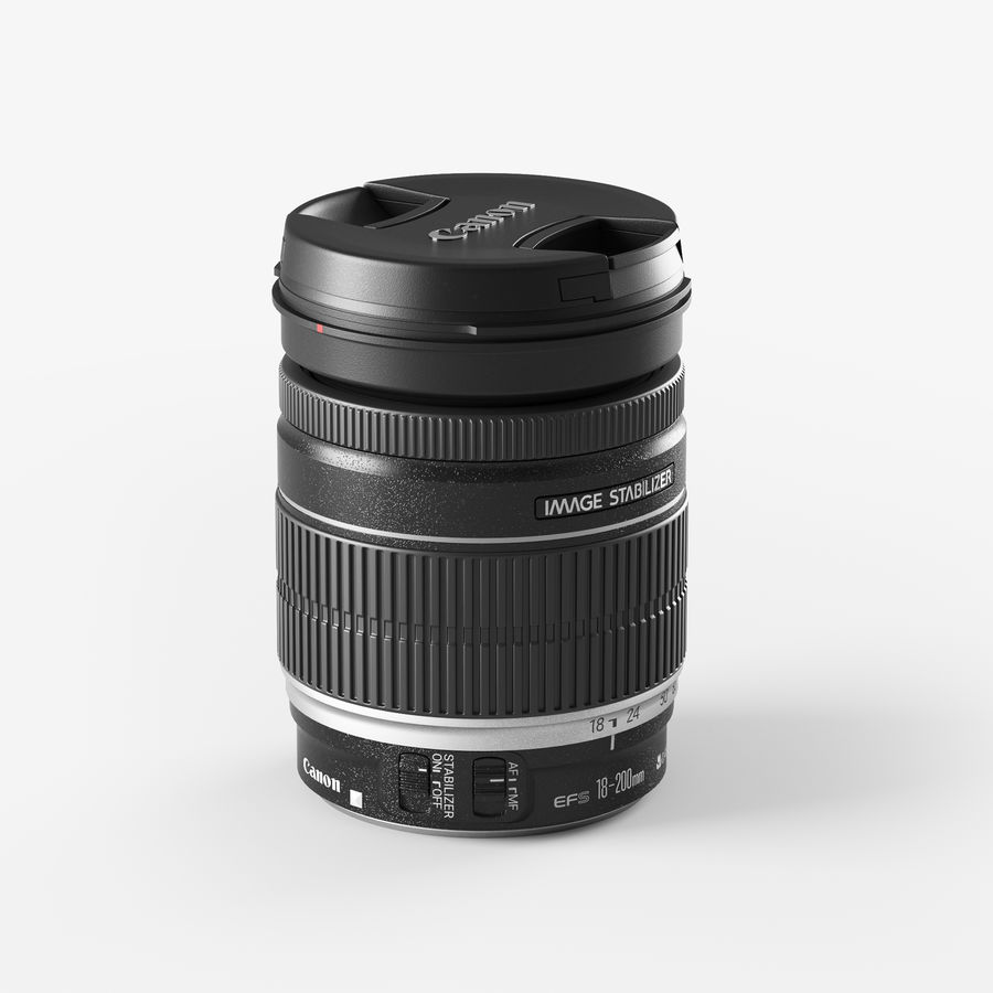 Canon Lens - Objetivo Canon royalty-free 3d model - Preview no. 6