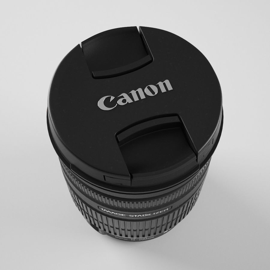 Canon Lens - Objetivo Canon royalty-free 3d model - Preview no. 5