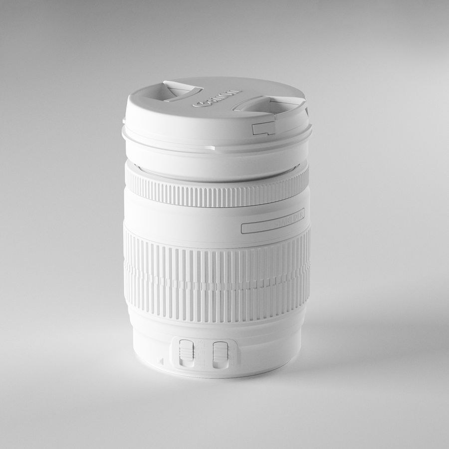 Canon Lens - Objetivo Canon royalty-free 3d model - Preview no. 2
