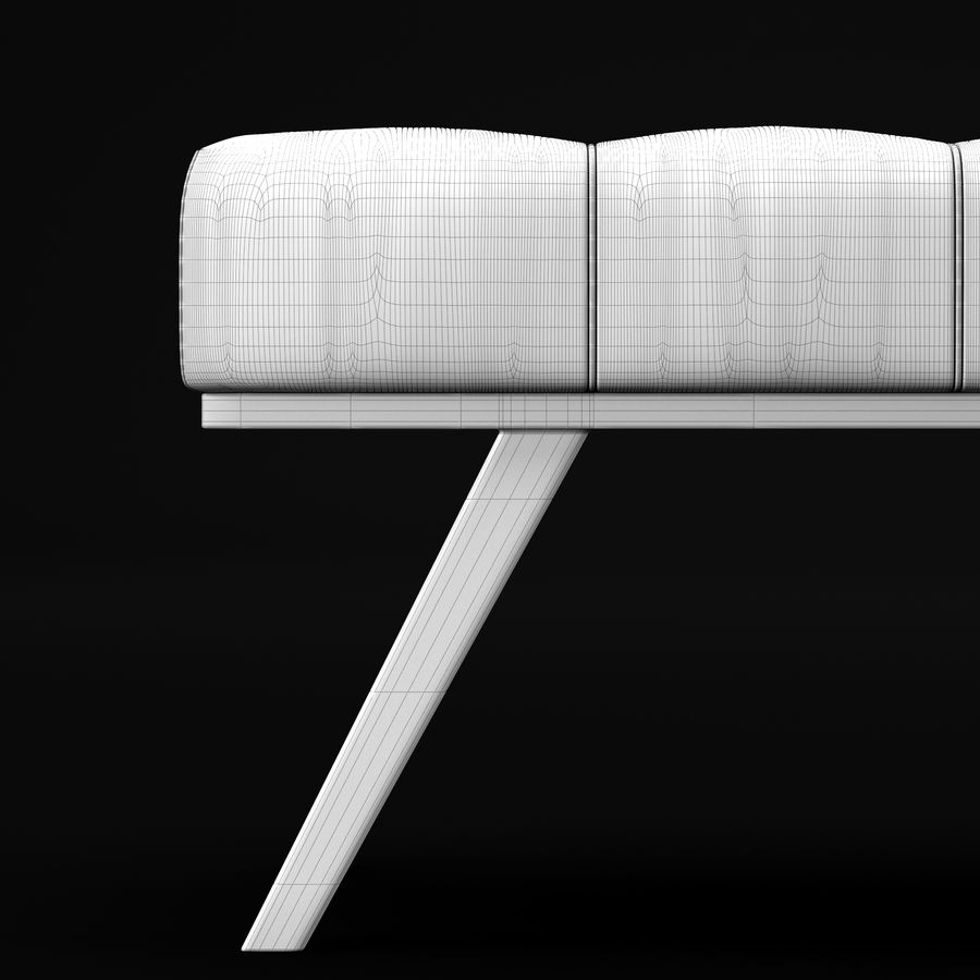 Скамья 2 royalty-free 3d model - Preview no. 19