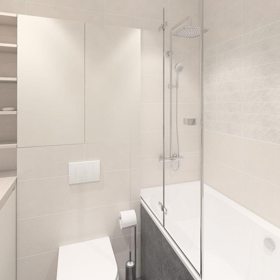Einfaches Badezimmer mit hellen Fliesen 20D Modell $20   .skp ...