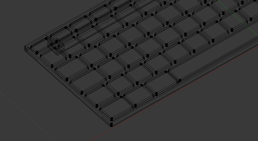 Modern Keyboard 3D 모델 royalty-free 3d model - Preview no. 11