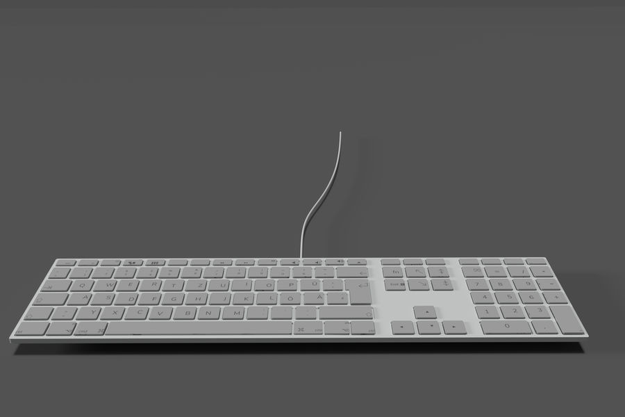 Modern Keyboard 3D 모델 royalty-free 3d model - Preview no. 5