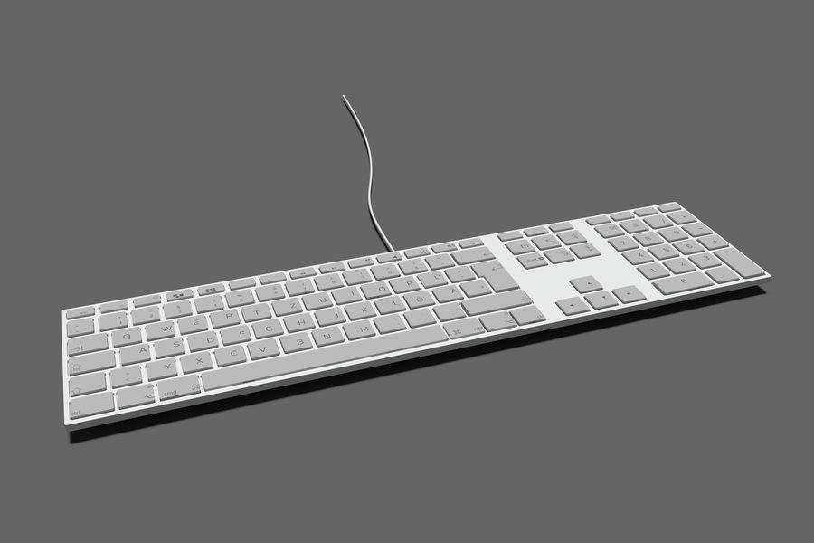 Modern Keyboard 3D 모델 royalty-free 3d model - Preview no. 1