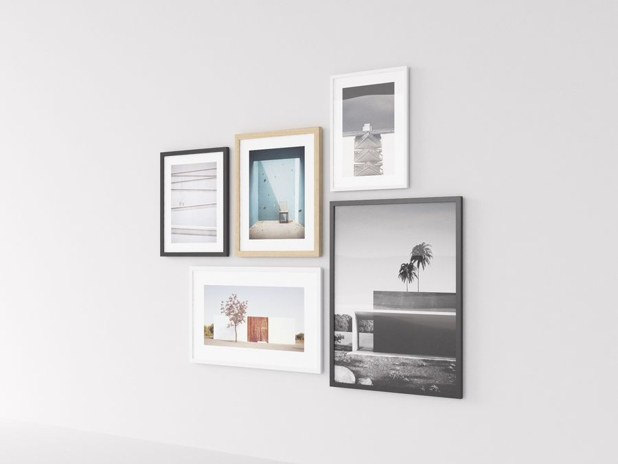 Fotolijsten Architectuur royalty-free 3d model - Preview no. 3