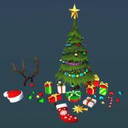 Рождественские вещи 3d model