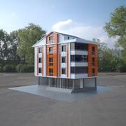 4 piętrowy budynek 3d model