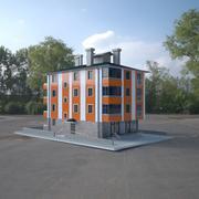 5 katlı bina 3d model