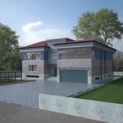 Piętro Villa 3d model
