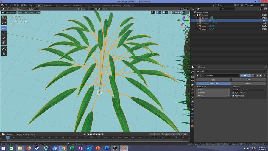 campo de hierba royalty-free modelo 3d - Preview no. 18