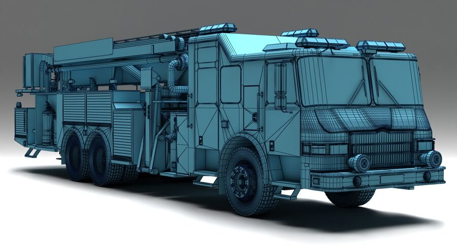 消防车 royalty-free 3d model - Preview no. 7