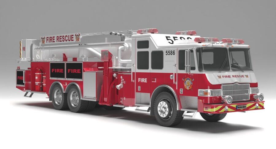 消防车 royalty-free 3d model - Preview no. 1