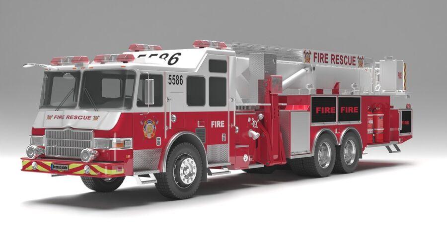 消防车 royalty-free 3d model - Preview no. 2