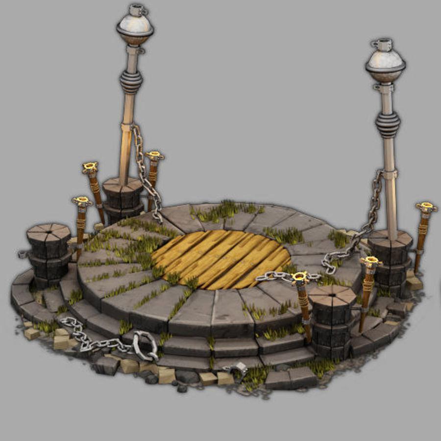 제단 royalty-free 3d model - Preview no. 1