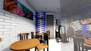 レストラン 3d model
