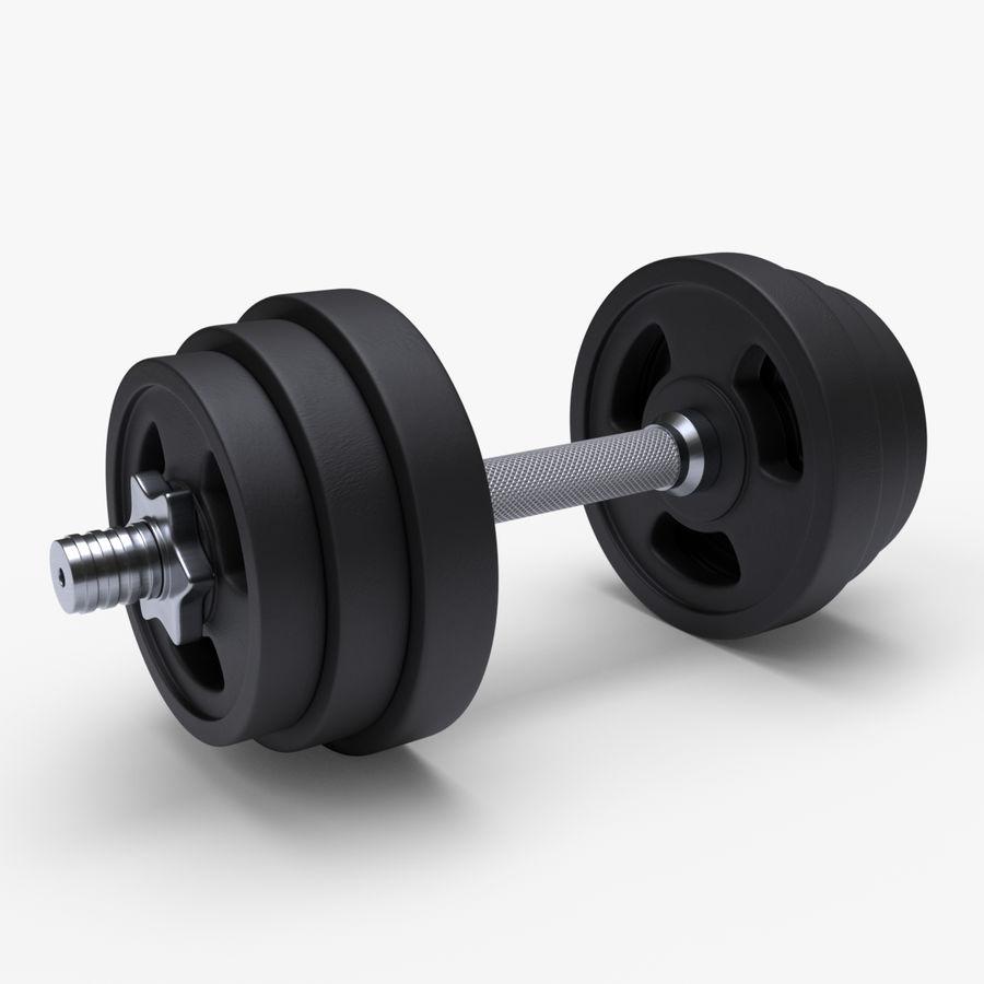 Hantelgewicht im Fitnessstudio royalty-free 3d model - Preview no. 1