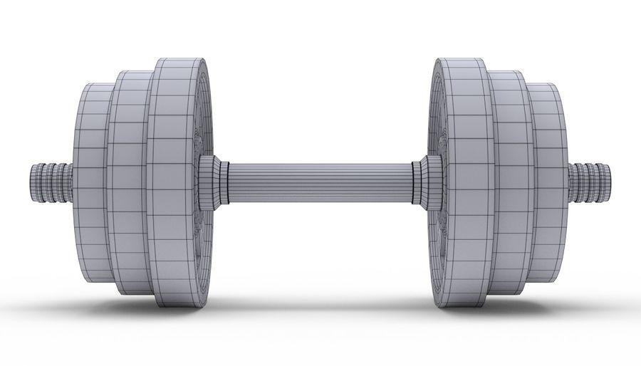 Hantelgewicht im Fitnessstudio royalty-free 3d model - Preview no. 17