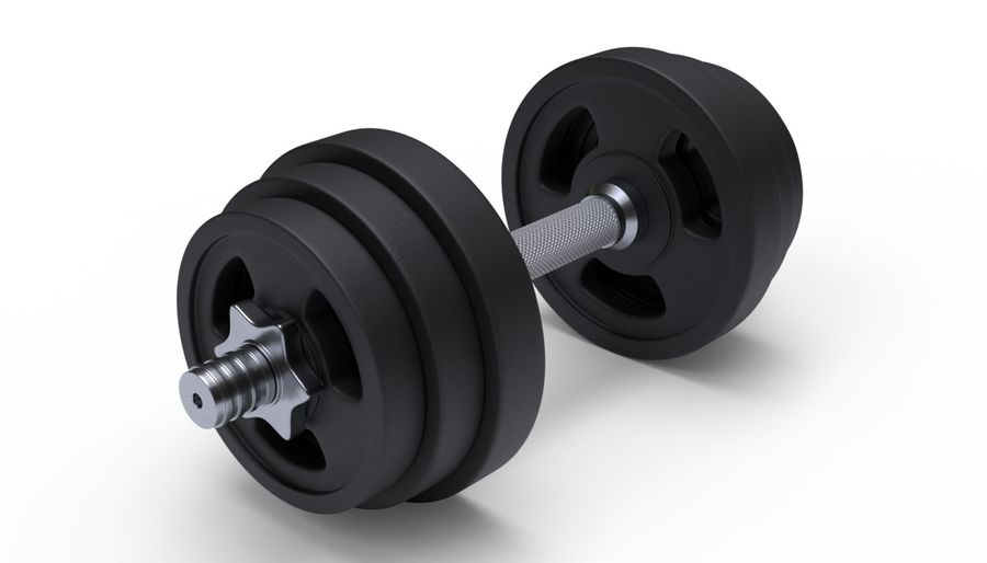 Hantelgewicht im Fitnessstudio royalty-free 3d model - Preview no. 2