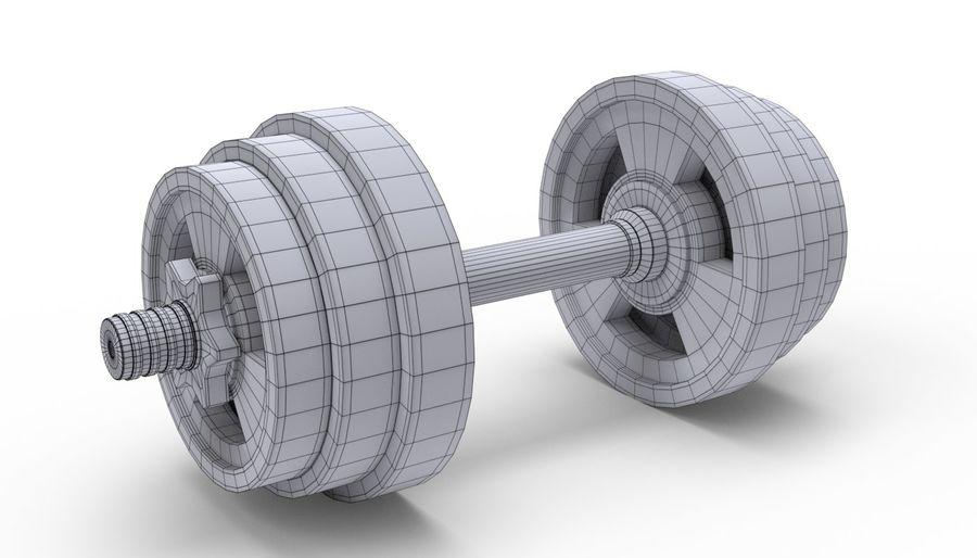 Hantelgewicht im Fitnessstudio royalty-free 3d model - Preview no. 9
