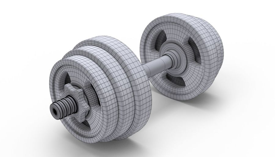 Hantelgewicht im Fitnessstudio royalty-free 3d model - Preview no. 12