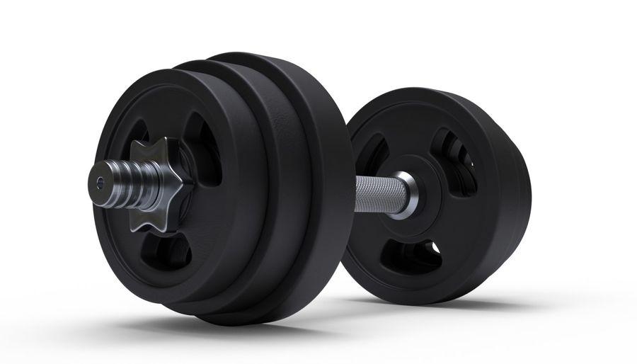 Hantelgewicht im Fitnessstudio royalty-free 3d model - Preview no. 4