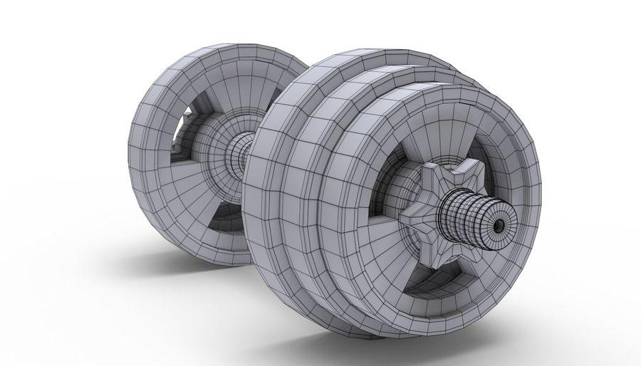 Hantelgewicht im Fitnessstudio royalty-free 3d model - Preview no. 13