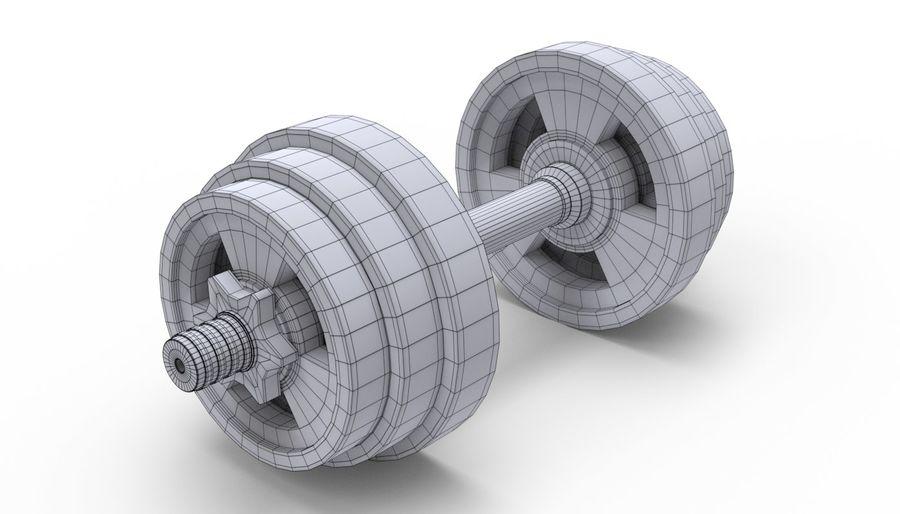 Hantelgewicht im Fitnessstudio royalty-free 3d model - Preview no. 11