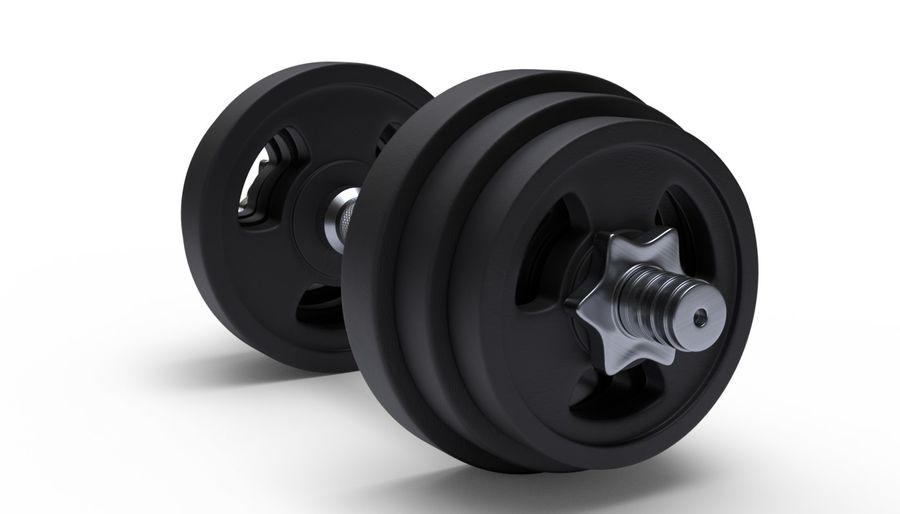 Hantelgewicht im Fitnessstudio royalty-free 3d model - Preview no. 3
