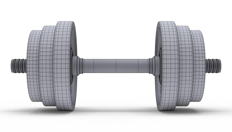 Hantelgewicht im Fitnessstudio royalty-free 3d model - Preview no. 18