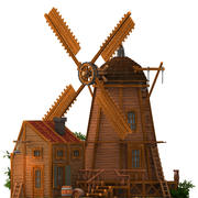 molino 3d modelo 3D modelo 3d