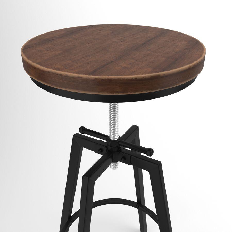 Barkruk + tafel royalty-free 3d model - Preview no. 2