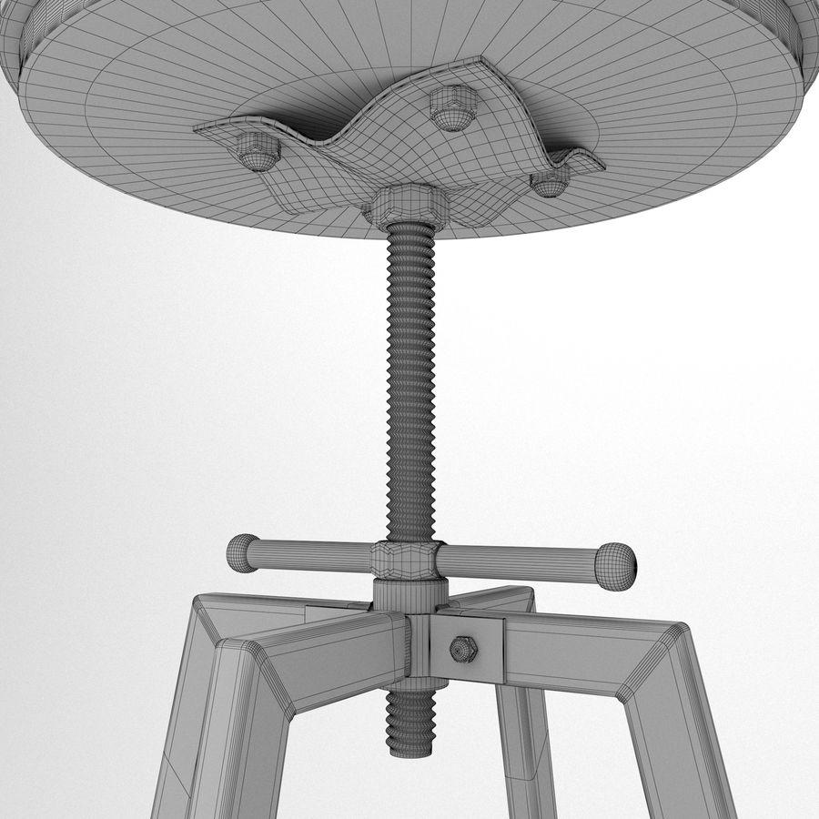 Barkruk + tafel royalty-free 3d model - Preview no. 9