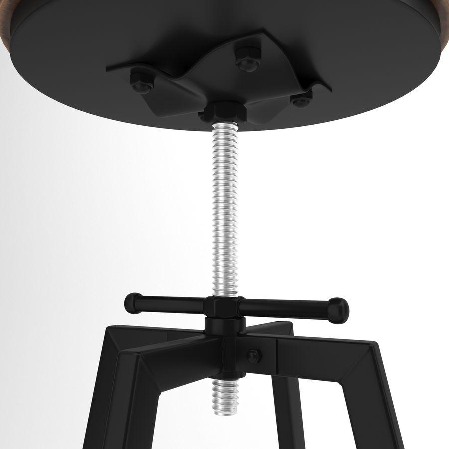 Barkruk + tafel royalty-free 3d model - Preview no. 4