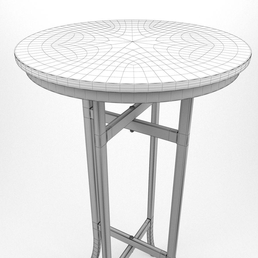 Barkruk + tafel royalty-free 3d model - Preview no. 8