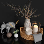 Decor set 3d model