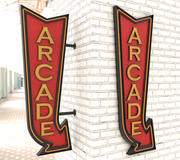 Neon Arcade Vintage Znaki reklamowe 3d model
