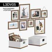 L3DV05G03 - ramki na zdjęcia i plakaty z 3 wielobocznymi poziomami 3d model