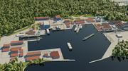 Port morski 3d model