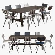 Scavolini 디젤 부적합 테이블 Moroso 오버 야드 의자 3d model