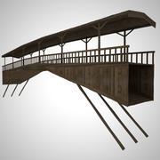 Ponte de madeira 3d model
