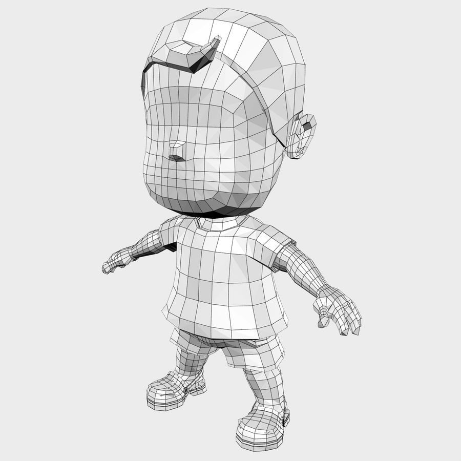 Boy Character Cartoon royalty-free 3d model - Preview no. 22