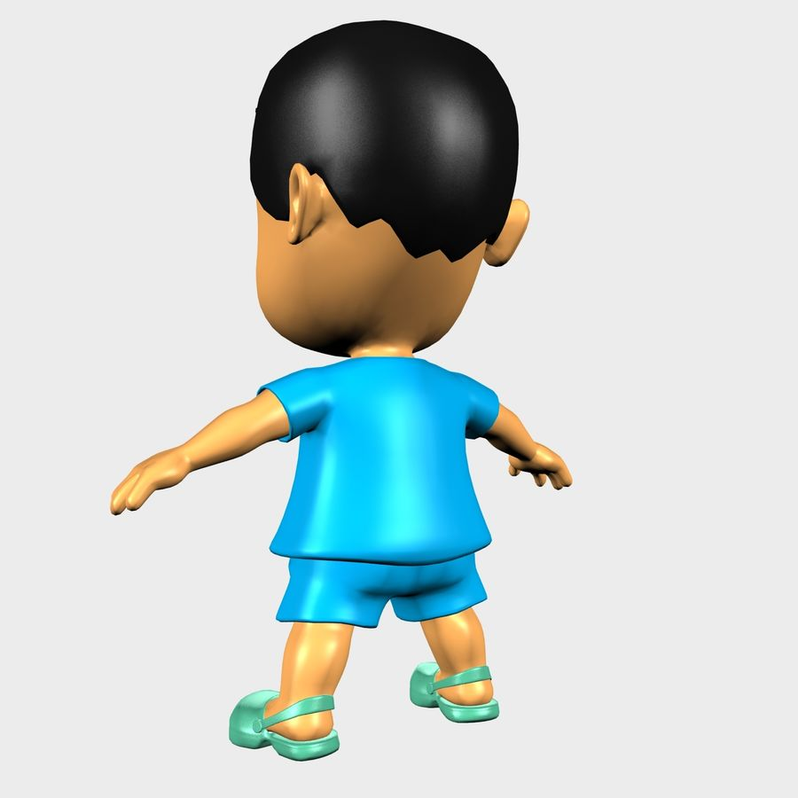 Boy Character Cartoon royalty-free 3d model - Preview no. 2