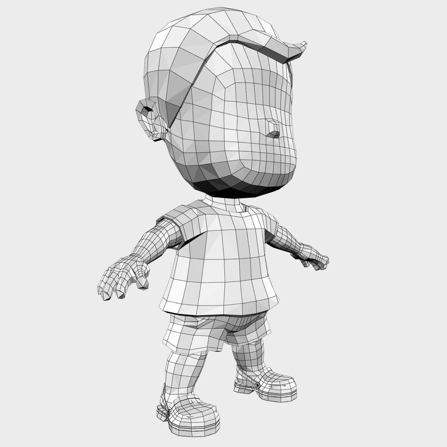 Boy Character Cartoon royalty-free 3d model - Preview no. 26
